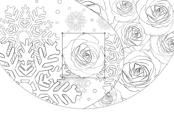 Position the Single Rose into Place with the Free Transform Tool