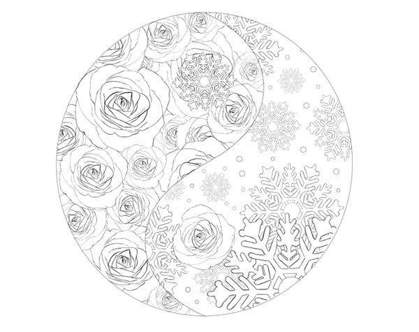 Final Sketch for the Yin Yang Illustration