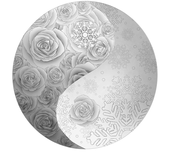 The Completed Rose Side with Shading