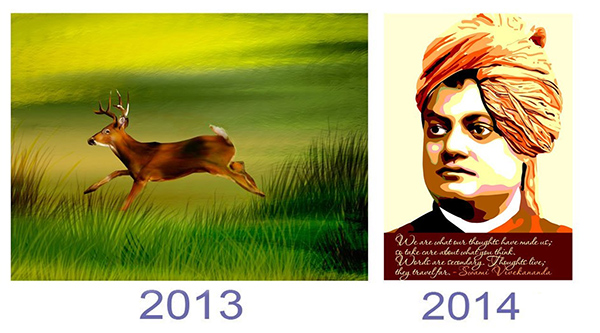 Past and Present Art by Usha Desai