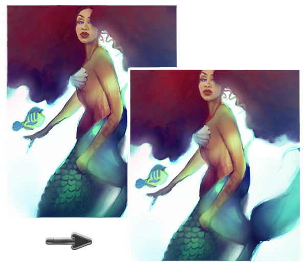 Crop the Mermaid Painting
