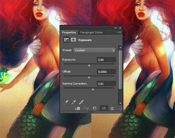 Add an exposure layer for added color intensity
