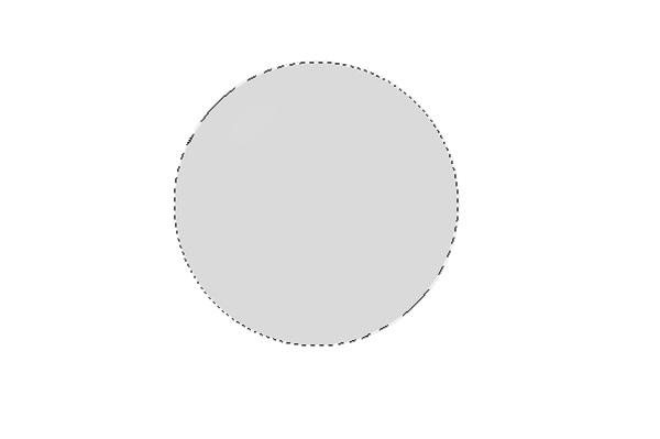 Fill the circle with a solid gray color
