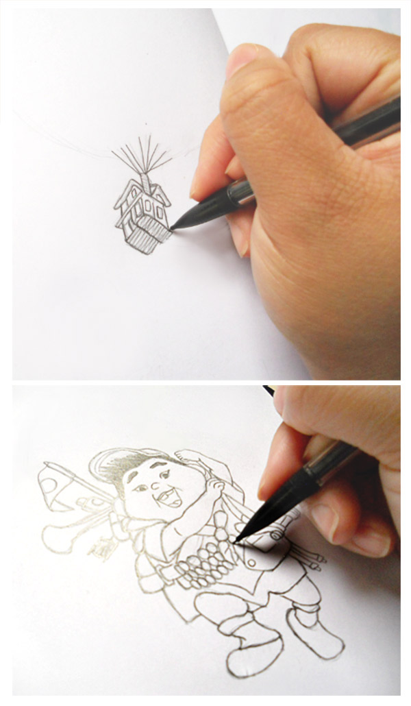 Start the Illustration by Sketching in Pencil First