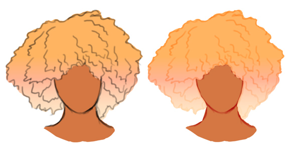 Paint a Gradient Blonde Afro Curly Hairstyle in Photoshop