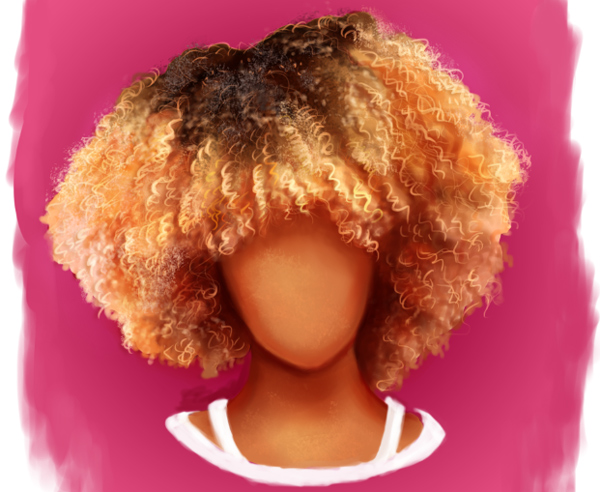 How to Paint African American Afro Curly Hair in Photoshop by Melody Nieves