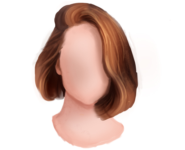 Paint More Hair on the Short Straight Hairstyle in Photoshop