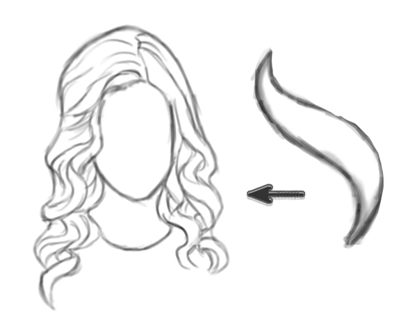 Draw Wavy Hair with S Shape in Adobe Photoshop