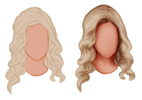 Paint Shadows for Wavy Hair in Adobe Photoshop