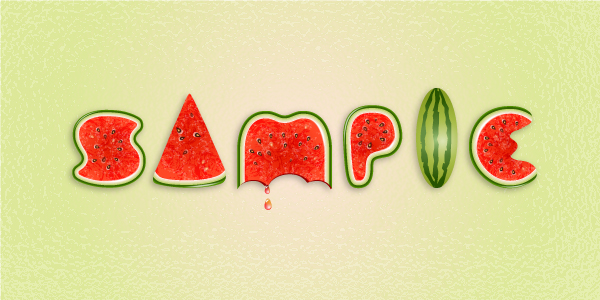 Create a Watermelon Text Effect in Adobe Illustrator