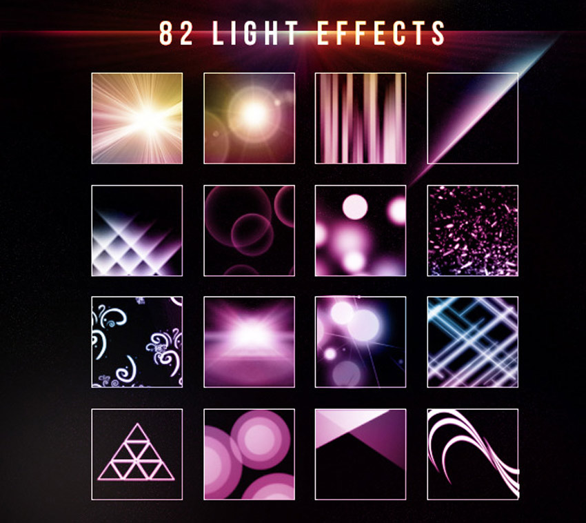 82 Light Effect Brushes