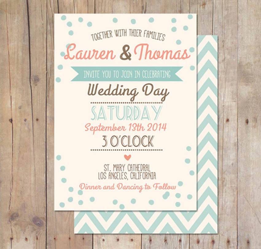 10 design tips for creating amazing wedding invitations retro wedding invitation stopboris Images