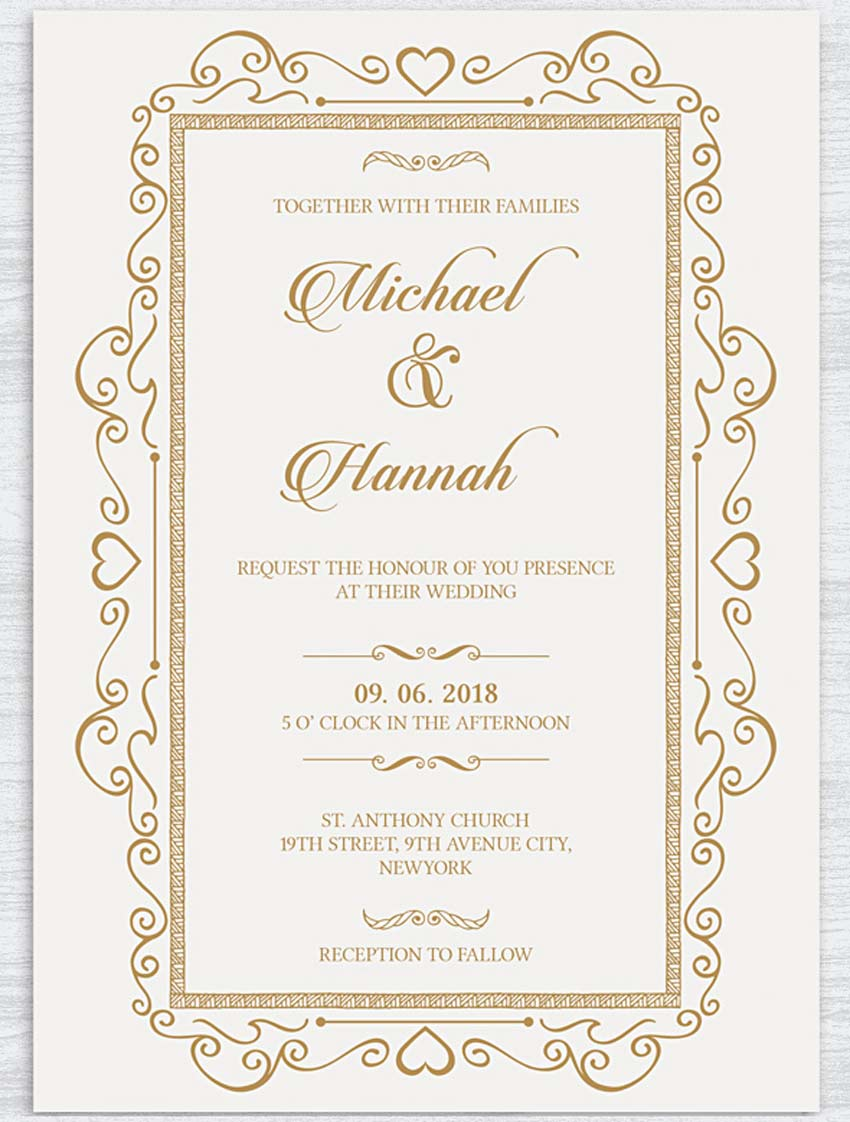 Traditional And Elegant Wedding Invite: 1950s Formal Wedding Invitation Wording At Reisefeber.org
