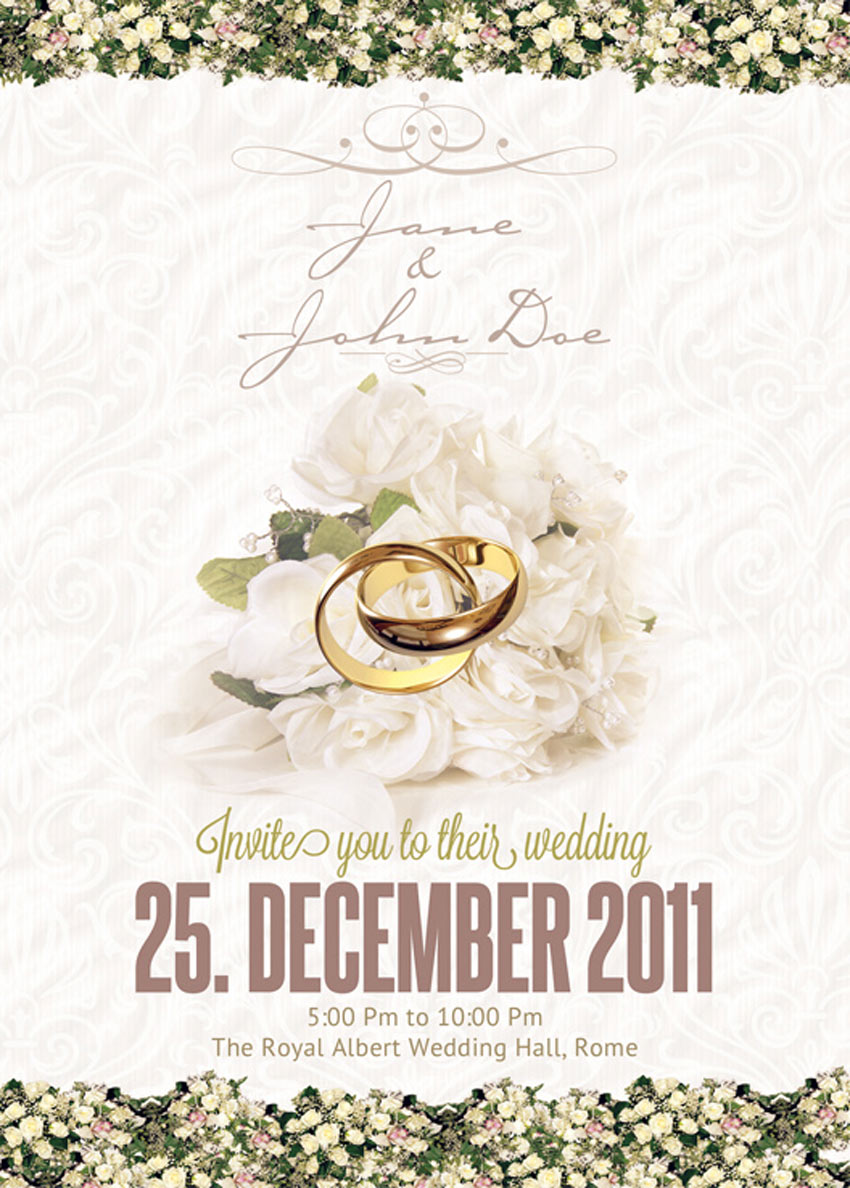 classy wedding invitation - Amazing Wedding Invitations