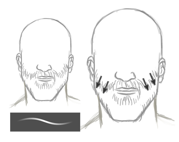 Drawing Facial Hair and Beards in Adobe Photoshop