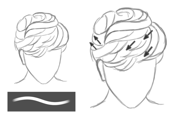 Sketching a Realistic Short Layered Hairstyle in Photoshop