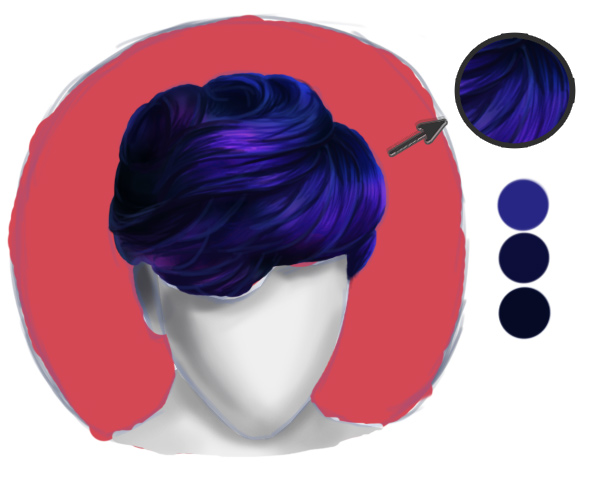 Paint Detailed Hair Strands for Short Realistic Hair in Photoshop