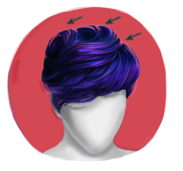 Paint Environmental Light and Highlights on Short Realistic Hair