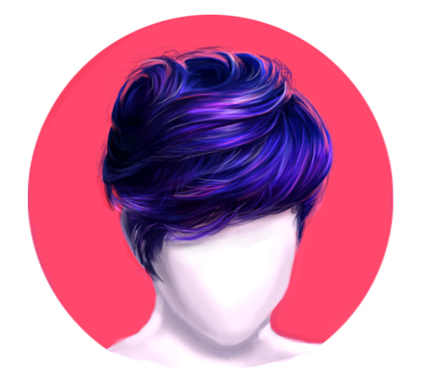 Paint Short Realistic Layered Hair in Photoshop Art Tutorial by Melody Nieves