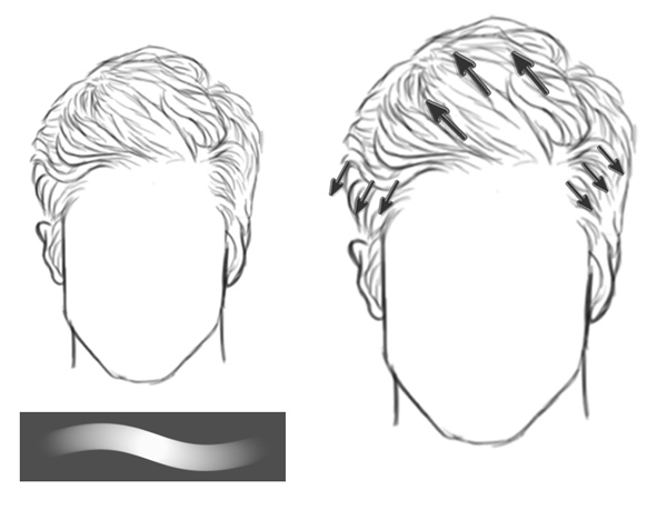 Sketch a Short Pompadour Hairstyle in Photoshop