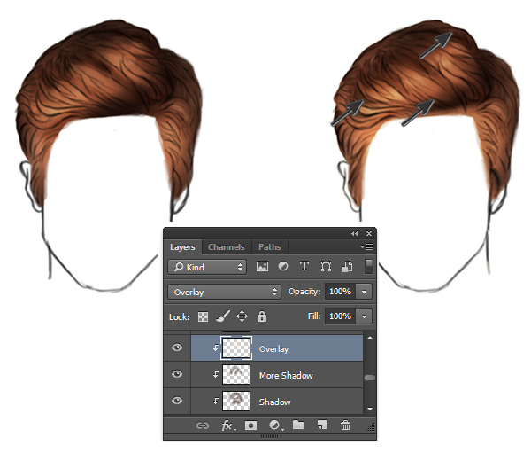 How to Paint Realistic Hair with Highlights in Photoshop