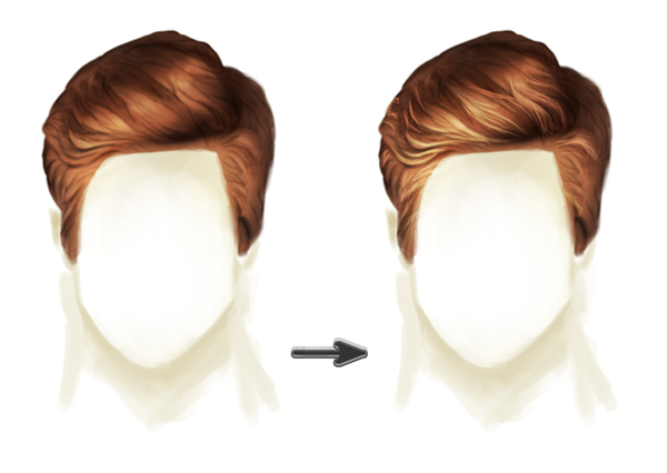 Painting Realistic Hair Highlights with Linear Dodge Add