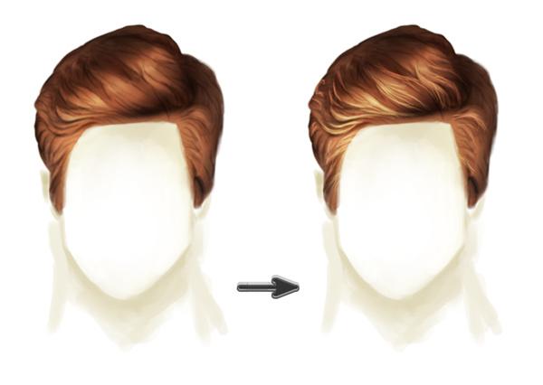 Как сделать волосы короткими в фотошопе