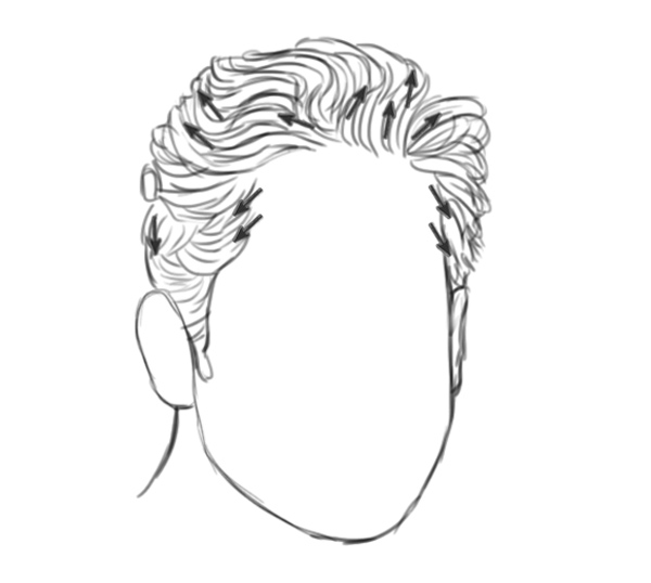 How to Draw Hair by Studying its Direction