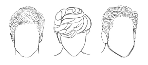 Drawing and Painting Different Hairstyles in Adobe Photoshop