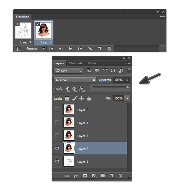 Unhide Layers and Increase Opacity for Photoshop Actions