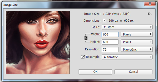 how to change gif file size photoshop