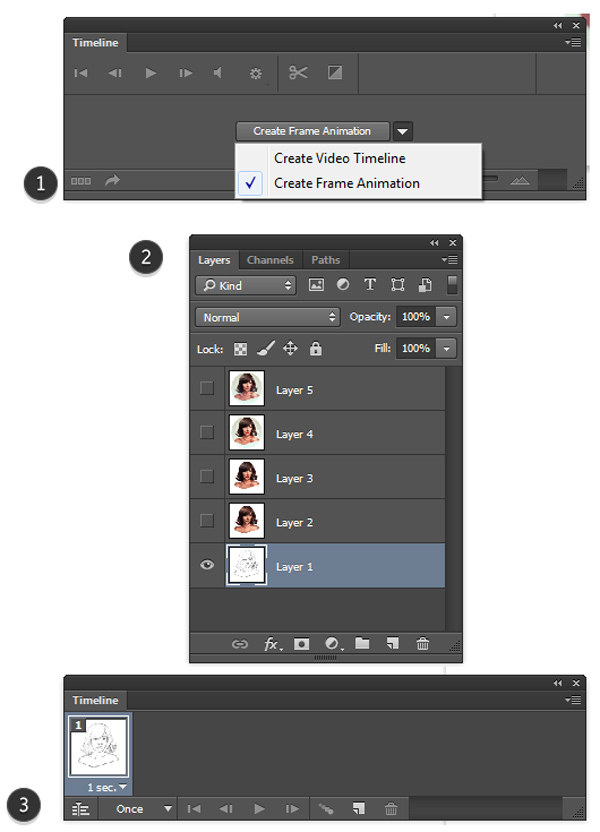 Create First GIF Animated Frame in Photoshop