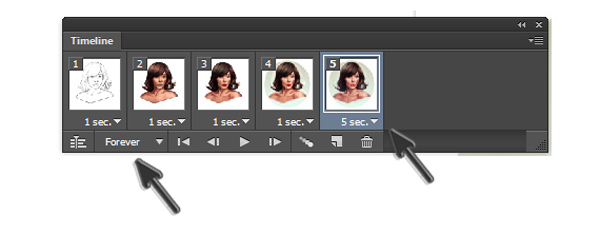 Set Frame Delay Time and Looping Options for Animated GIF in Photoshop