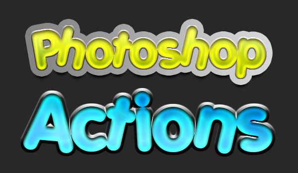 Cool Text Effect Photoshop Actions