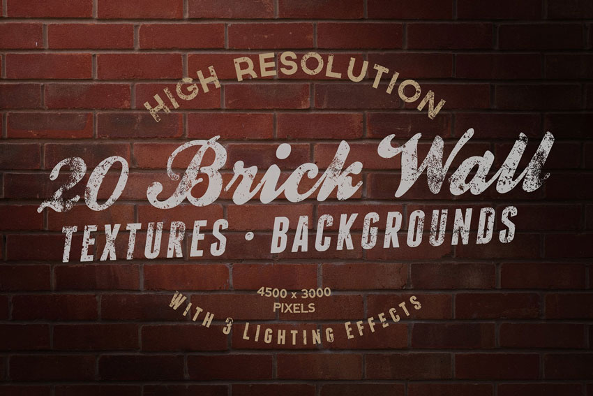 20 Brick Wall Texture Pack