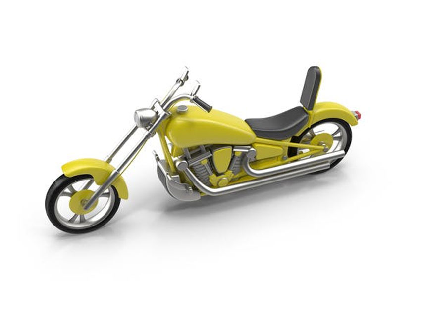 3D Chopper Motorcyle
