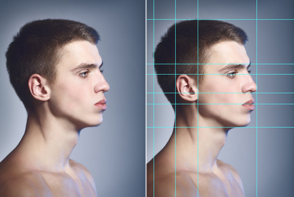 Digitally Paint Faces with Guidelines and Rulers in Photoshop