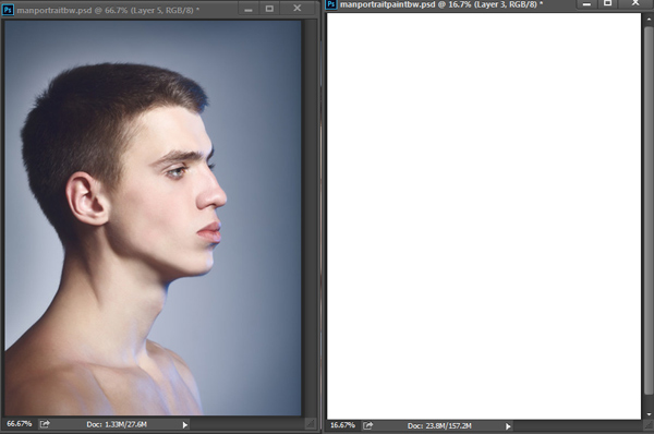 Painting Male Faces in Photoshop