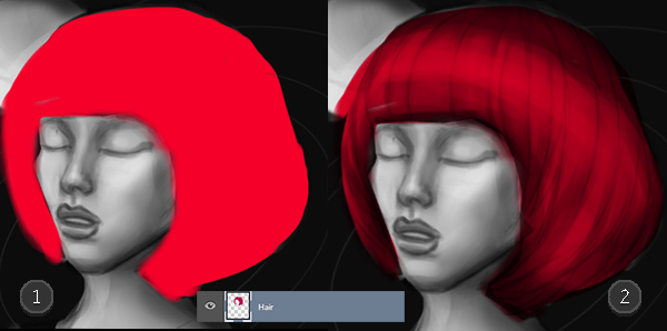 Set Blend Mode to Multiply to Color Digital Paintings