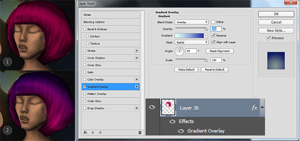 Add a Gradient Overlay to a Digital Painting in Adobe Photoshop