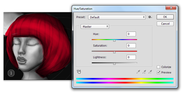 Hue and Saturation in Adobe Photoshop for Digital Painting