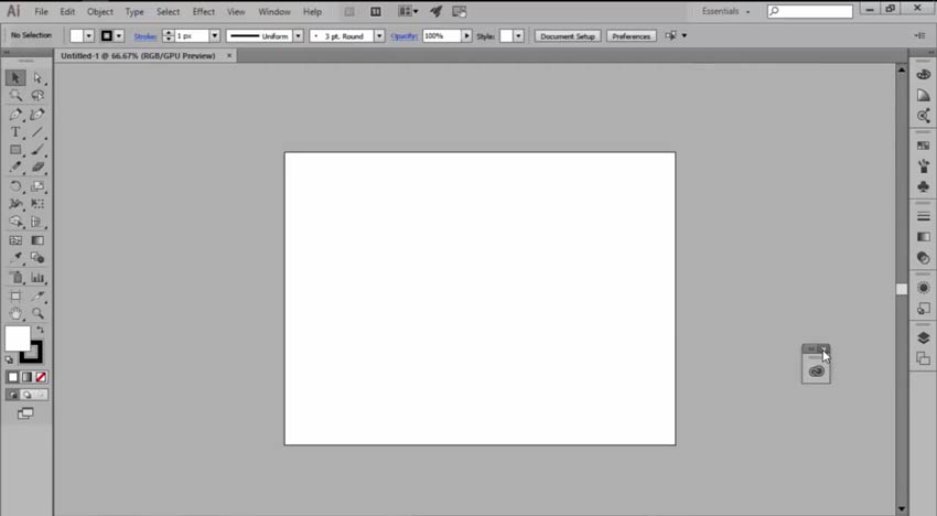 Moving and Removing Tools for a Custom Illustrator Workspace