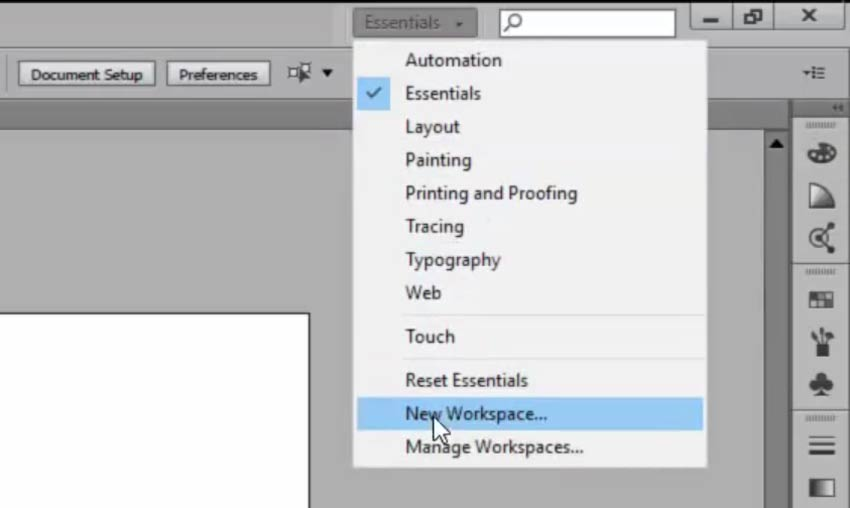 Creating Custom Workspaces in Adobe Illustrator