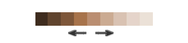 Different Shades of Brown for Skin Color