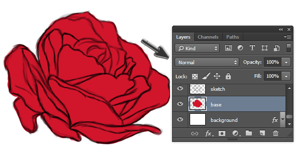 Base Colors for Digital Painting in Adobe Photoshop