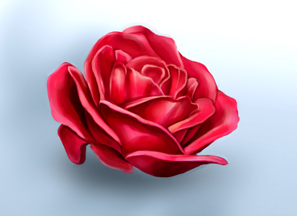 How to Digitally Paint a Rose in Adobe Photoshop by Melody Nieves