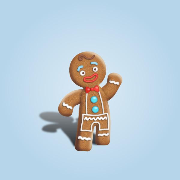 Gingerbread Man Character Design Tutorial