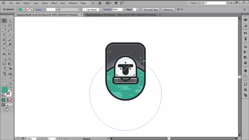 Clipping Masks in Adobe Illustrator