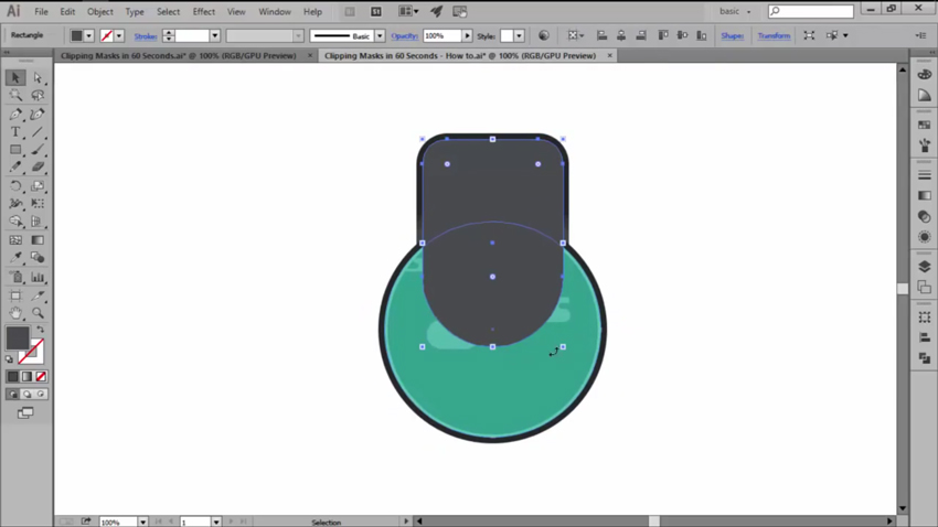 Creating a Clipping Mask with Shapes