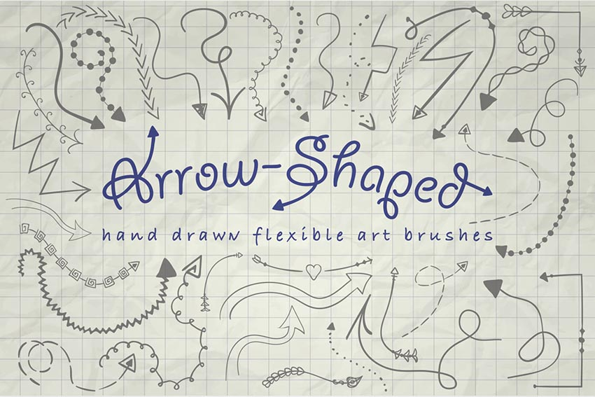 Illustrator Arrow-Shaped Art Brushes